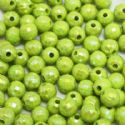 Beads, Acrylic, Green-Yellow, Spherical, Diameter 7mm, NA, 40 Beads, (SLZ0211)